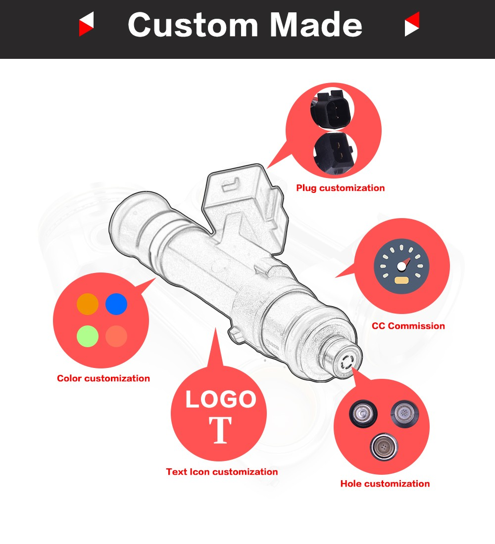 Fuel injector nozzle INP-063 for 92-96 Dodge Mitsubishi-EAGLE 1.8L-8