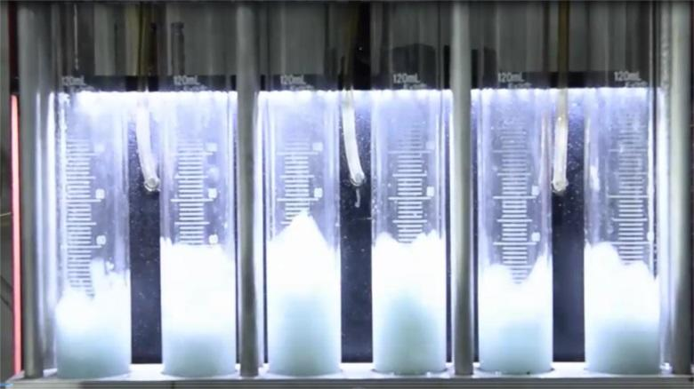 Siemens Deka Fuel injector nozzle test video